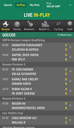 Bet365 Mobile App Image