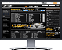 Centrebet Website Preview