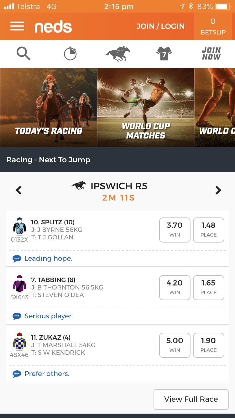 Neds Mobile App Image